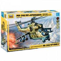 """Сборная модель ZVEZDA 7293 Советский вертолет Ми-24 В/ВП """"Крокодил"""" - Zvezda"""