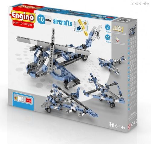 """Конструктор """"PICO BUILDS/INVENTOR. Самолеты"""", 16 моделей - Engino"""