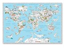 Раскраска-плакат ГЕОДОМ 2944 Мир динозавров, большая