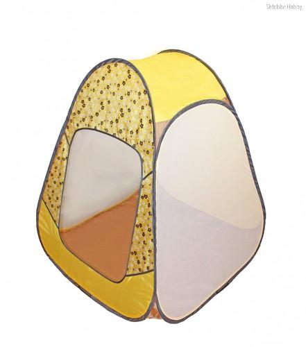 Палатка BELON FAMILIA ПИ-004-КМ-ТФ-ЦЖ Конусная 4гр., принт цветы, жёлтая - Belon