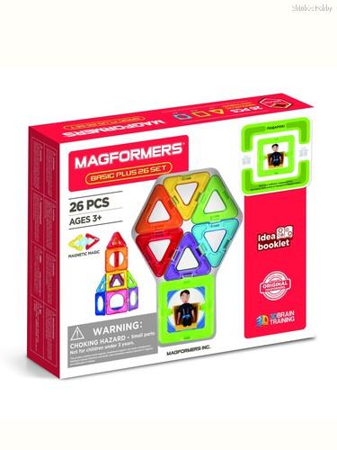 Магнитный конструктор MAGFORMERS 715014-М Basic Plus 26 Set - Мальчик - Magformers