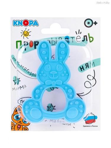 Прорезыватель KNOPA 80077 Зайка, голубой - Knopa