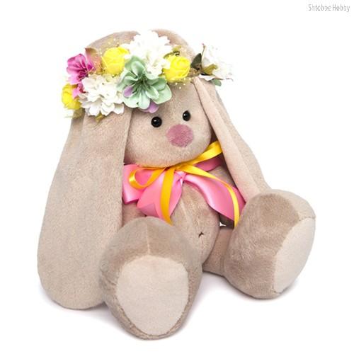 Мягкая игрушка Зайка Ми в веночке и с бантиком (малая) - Буди Баса