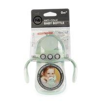 Бутылочка HAPPY BABY 10019O антиколиковая с ручками и силиконовой соской olive, 180 мл. - Happy Baby