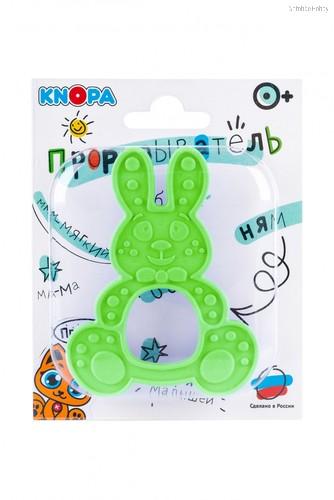 Прорезыватель KNOPA 80080 Зайка, зеленый - Knopa