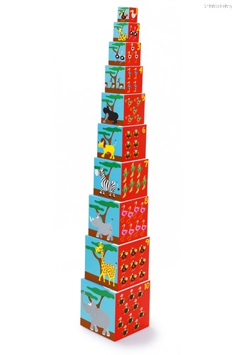 Кубики Stacking Tower Animals of the world - Scratch