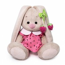 Мягкая игрушка BUDI BASA SidX-375 Зайка Ми в розовом платье с клубничкой 15 см - Буди Баса