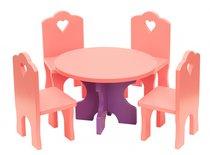 Набор кукольной мебели КМ-03 Столик с четырьмя стульчиками - Краснокамская Игрушка