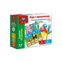 Развивающая игра VLADI TOYS VT5303-04 Внимательный малыш с прищепками - Vladi Toys