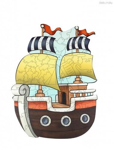 Пазл WOODLANDTOYS 147101 Кораблик - WOODLAND