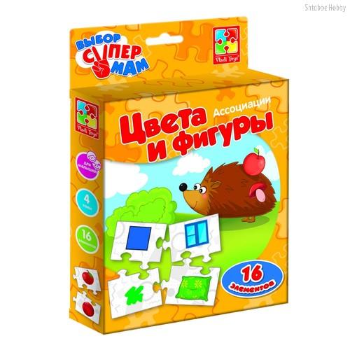 Развивающая игра VLADI TOYS VT1901-38 Ассоциации Цвета и фигуры - Vladi Toys