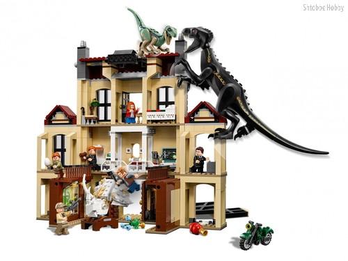 Конструктор Jurassic World Нападение индораптора в поместье Локвуд - Lego