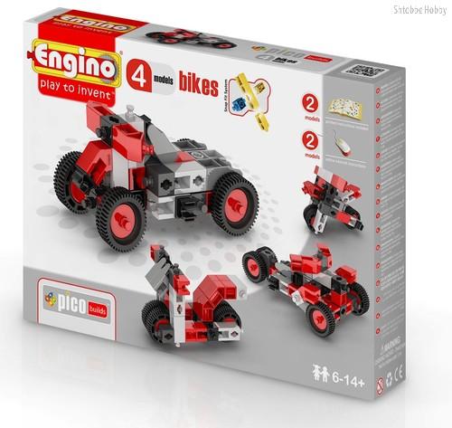 """Конструктор """"PICO BUILDS/INVENTOR. Мотоциклы"""", 4 модели - Engino"""