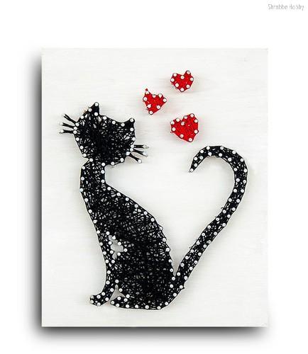 Стринг арт STRING ART LAB A4001 Кошка - String art lab