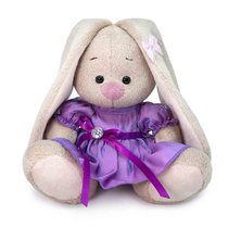 Мягкая игрушка BUDI BASA SidX-395 Зайка Ми в сиреневом платье с блеском 15 см - Буди Баса