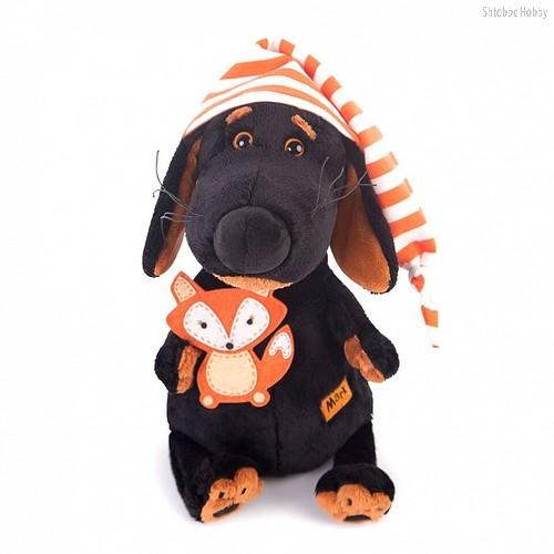 Мягкая игрушка BUDI BASA Vaks25-008 Ваксон в колпачке и с лисичкой - Буди Баса