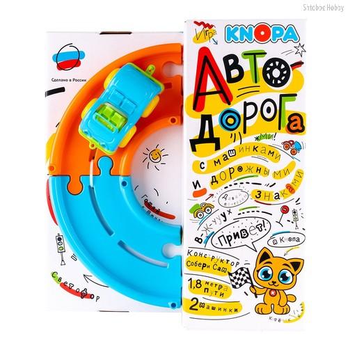 Игровой набор KNOPA 86201 Автодорога 1,8 м с машинками - Knopa
