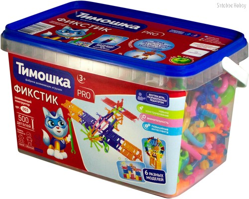 Конструктор ТИМОШКА 3 Фикстик 500 деталей - Тимошка
