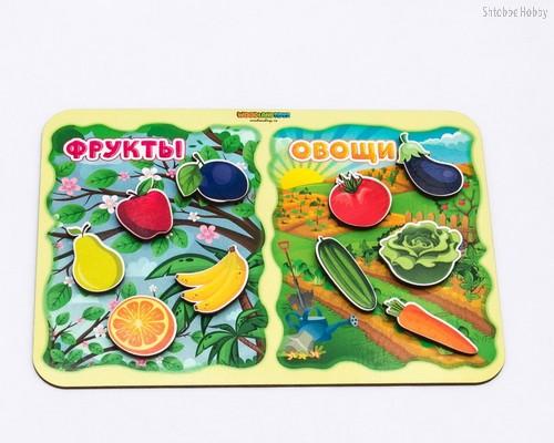 Обучающий набор WOODLANDTOYS 117203 Фрукты-овощи - WOODLAND