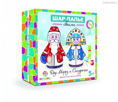Набор для творчества ШАР-ПАПЬЕ В0160611 Дед Мороз и Снегурочка - Шар-Папье
