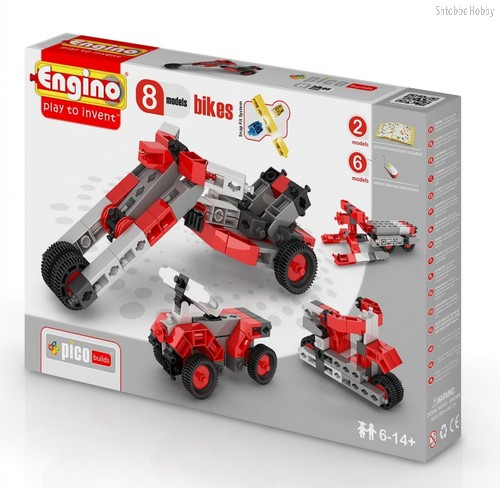 "Конструктор ""PICO BUILDS/INVENTOR. Мотоциклы"", 8 моделей - Engino"