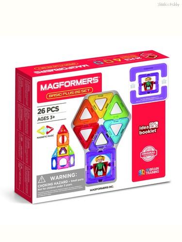Магнитный конструктор MAGFORMERS 715014-Д Basic Plus 26 Set - Девочка - Magformers