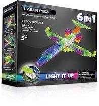 Светодиодный конструктор Самолет 6 в 1 - Laser Pegs