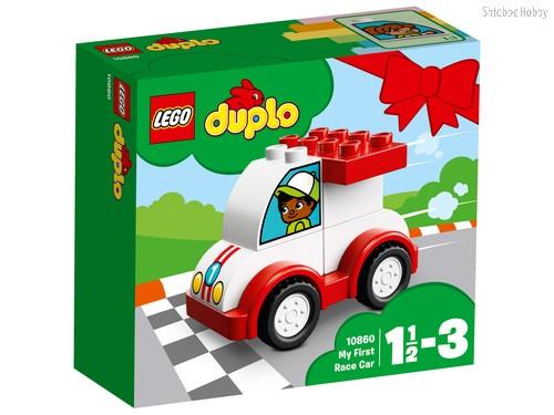 Конструктор LEGO 10860 Duplo My First Мой первый гоночный автомобиль - Lego