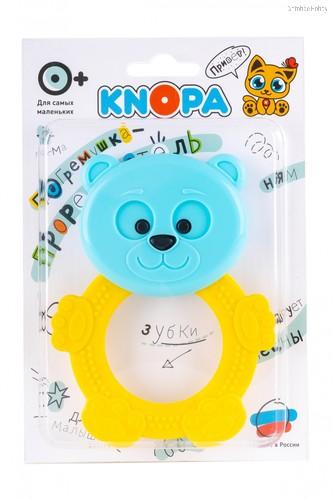Прорезыватель KNOPA 80049 Мишутка, желто-голубой - Knopa