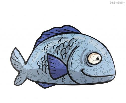 Пазл WOODLANDTOYS 147106 Рыбка - WOODLAND