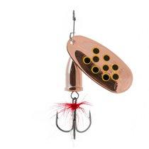 Блесна Premier Fishing Gidra Bug Black №5, 15г. CU с мухой PR-SPRH12B-5CU-В, 15 г - Тонар