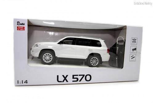 Машина на ру BALBI HQ20125 Lexus LX 570 1:14 белый - Balbi