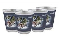 Набор стопок в чехле Helios Рыба 4 шт 60 мл HS-NS-F-A20-2 - Тонар