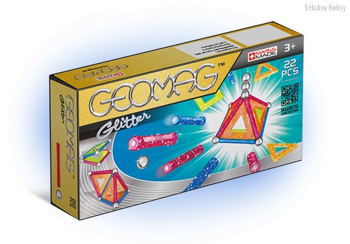 Магнитный конструктор GEOMAG 530 Glitter 22 детали - Geomag