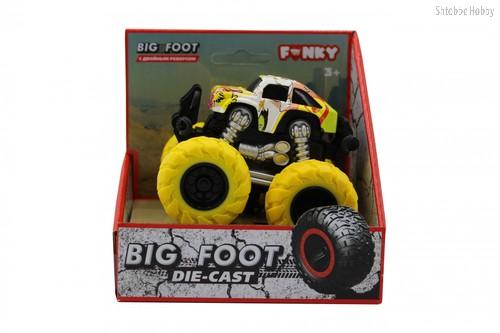 Машина пластиковая FUNKY TOYS FT61042 гоночная die-cast, 4*4, желтые колеса - Funky Toys