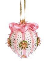 Набор для творчества ВОЛШЕБНАЯ МАСТЕРСКАЯ ШП-06 Шар Нежность розовый новогодний - Волшебная Мастерская