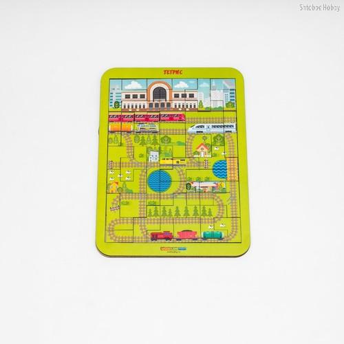 Логическая игра WOODLANDTOYS 65112 Тетрис большой Ж/Д вокзал - WOODLAND