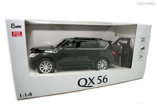 Машина на ру BALBI HQ20126 Infiniti QX56 1:14 черный - Balbi