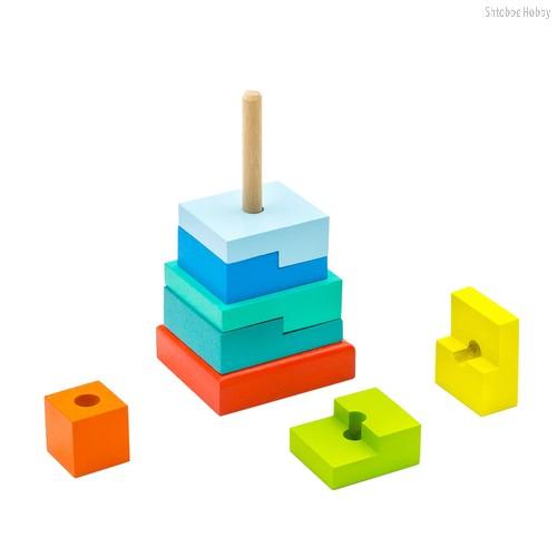 Пирамидка ALATOYS ПСТ02 Ступеньки - Alatoys