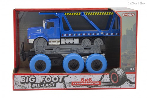 Машина пластиковая FUNKY TOYS FT61091 Транспортер с краш-эффектом, кабина die-cast, 6*6 - Funky Toys