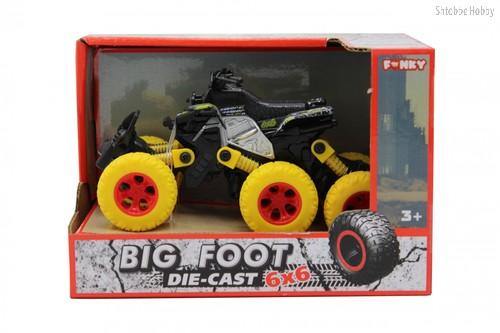 Машина пластиковая FUNKY TOYS FT61065 Квадроцикл die-cast, инерционный, желтый, 6*6 - Funky Toys