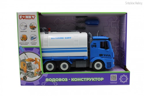 Машина пластиковая FUNKY TOYS FT61117 Водовоз-конструктор 1:12 - Funky Toys