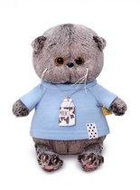 Мягкая игрушка BUDI BASA BB-057 Басик BABY в голубой футболке 20 см - Буди Баса