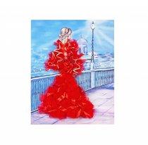 Мозаика из пайеток ВОЛШЕБНАЯ МАСТЕРСКАЯ МХ-31 Девушка в красном - Волшебная Мастерская
