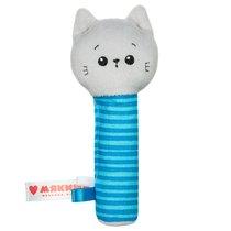 Погремушка МЯКИШИ 595 пищалка котёнок Кекс - Мякиши