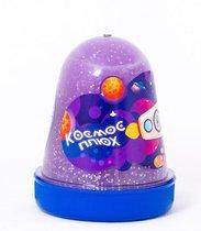 Слайм ПЛЮХ 1103 Космос фиолетовый светящийся с блестками, 130 г - Плюх