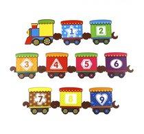 Обучающий набор WOODLANDTOYS 145108 Поезд с цифрами