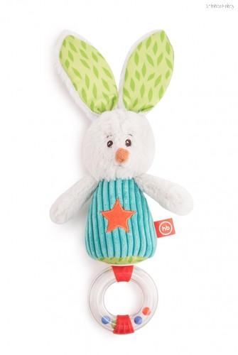 Погремушка HAPPY BABY 330651 заяц Макс - Happy Baby