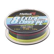 Шнур плетеный Helios Extra Class 8 PE Braid 0,18мм 135м Multicolor HS-8PEM-18/135 M - Тонар