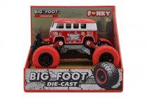 Машина пластиковая FUNKY TOYS FT61076 Автобус die-cast, инерционный, красный, 1:46 - Funky Toys